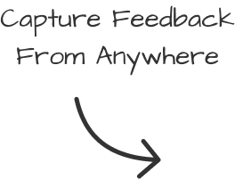 Capture feedback from anywhere