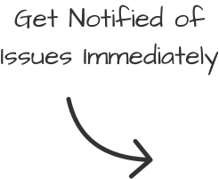 Get notified of issues immediately